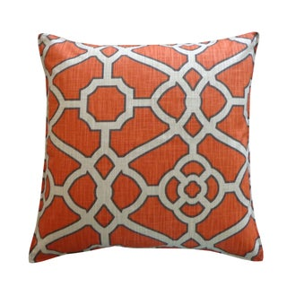Jiti Celtic Orange Cotton Throw Pillow
