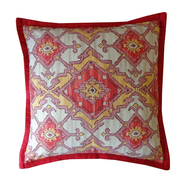 Jiti Red Pharoah Pattern Cotton Pillow