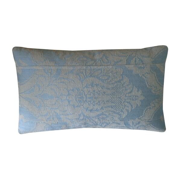 Jiti Blue Ghost Damask Cotton Pillow
