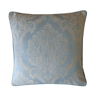Jiti Blue Ghost Damask 20-inch Cotton Pillow