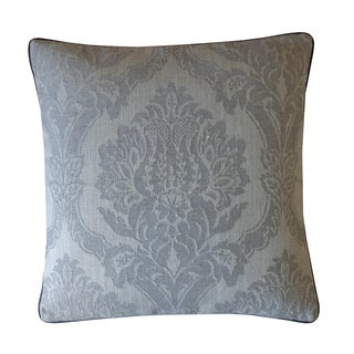 Jiti Grey Ghost Damask 20-inch Cotton Pillow