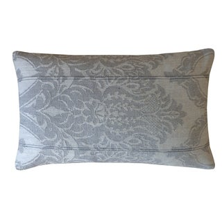 Jiti Grey Ghost Damask Cotton Pillow