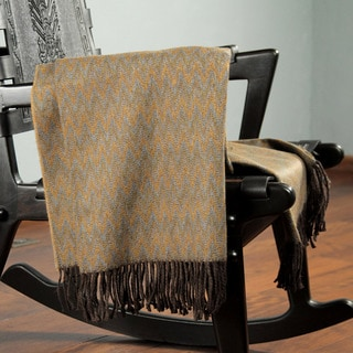 Acrylic Alpaca Wool 'Desert' Throw Blanket (Peru)