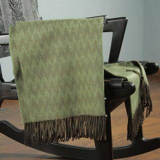 Acrylic Alpaca Wool 'Forest' Throw Blanket (Peru)