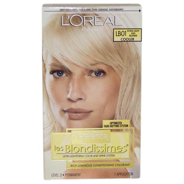 L'Oreal Paris Superior Preference Les Blondissimes #LB01 Extra Light Ash Blonde Cooler