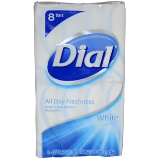 Dial White 4-ounce Antibacterial Deodorant Soap (Pack of 8)