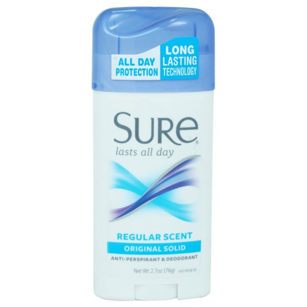 Sure Original Solid Regular Scent 2.7-ounceAnti-Perspirant Deodorant