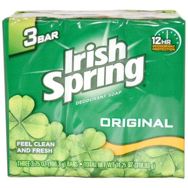 Irish Spring Original Deodorant 4-ounce Soap