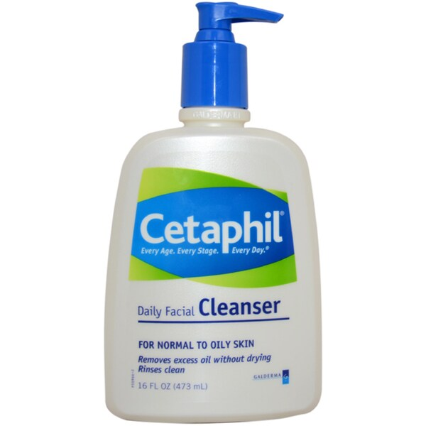 Cetaphil Daily Facial Cleanser for Normal to Oily Skin 16-ounce Cleanser