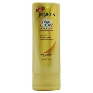 Jergens Natural Glow Express Body for Fair to Medium Skin 4-ounce Moisturizer