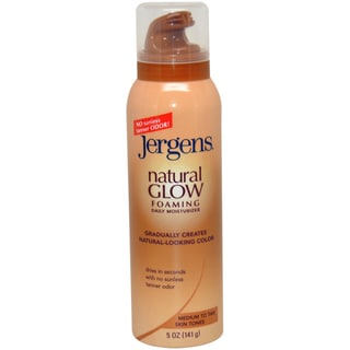 Jergens Natural Glow Foaming Daily for Medium to Tan Skin 5-ounce Moisturizer