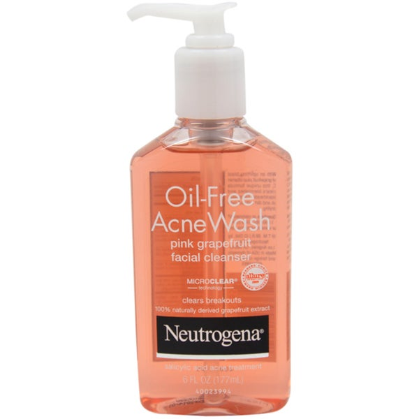 Neutrogena Oil Free Acne Wash Pink Grapefruit Facial 6-ounce Cleanser