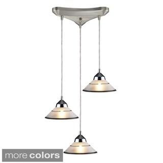 Elk Lighting Refraction 3-light Polished Chrome/ Glass Pendant