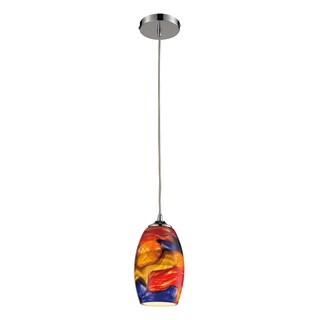 Elk Lighting Surrealist Single-light Polished Chrome Pendant