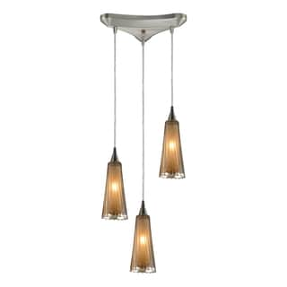 Elk Lighting Encapsulate 3-light Satin Nickel Pendant