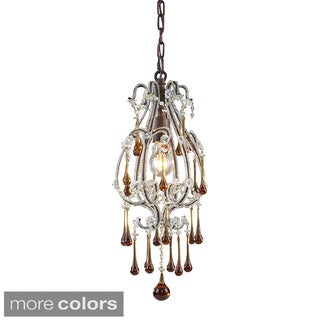 Elk Lighting Opulence Crystal and Rust 1-light Pendant