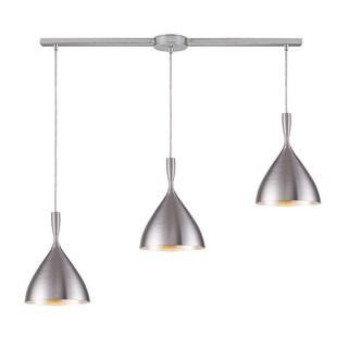 Elk Lighting Spun Aluminum 3-light Silver Linear Pendant
