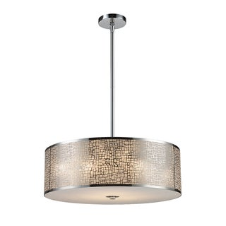 Elk Lighting Medina 5-light Polished Stainless Steel Pendant
