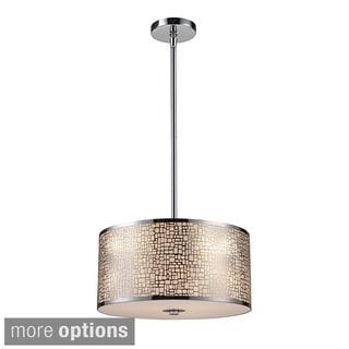 Elk Lighting Medina 3-Light Polished Stainless Steel Pendant