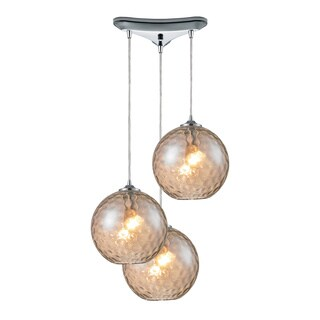 Elk Lighting Watersphere 3-light Polished Chrome Pendant