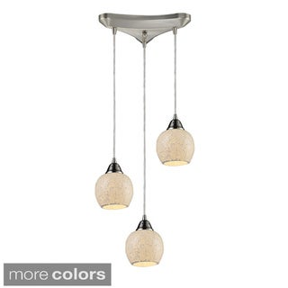 Fission 3-light Cloud Pendant In Satin Nickel