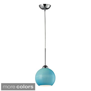 Cassandra Colored Glass and Polished Chrome 1-lght Pendant