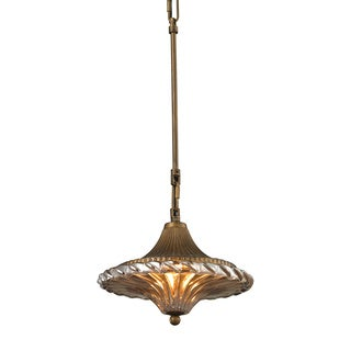 Elk Lighting Raina Single-light Gold/ Antique Black Pendant