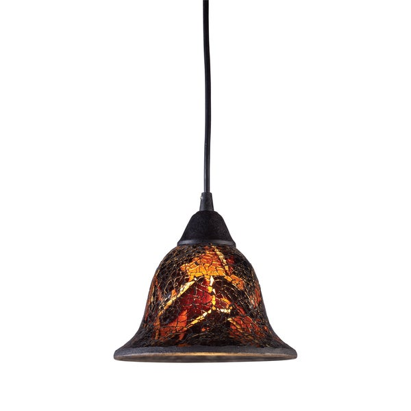 Firestorm Dark Rust Glass 1-light Pendant