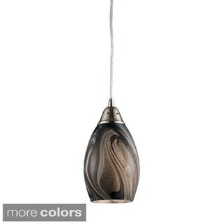 Elk Lighting Formations Swirled Glass and Satin Nickel 1-light Pendant