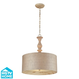 Elk Lighting Nathan 3-light Washed Pine Pendant