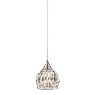 Elk Lighting Kersey Single-light Satin Nickel Mini Pendant