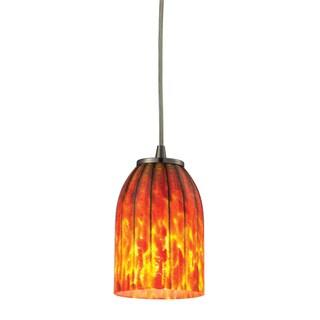 Elk Lighting Caliente Single-light Satin Nickel Pendant