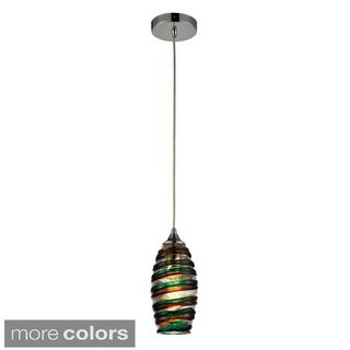 Elk Lighting 'Twister' Single-light Polished Chrome Pendant