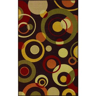 Quintessence Chocolate Multi Color Rectangular Rug (4'5 x 6'9)