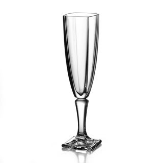 Fitz and Floyd Gemini Crystal Flutes - Set of 4