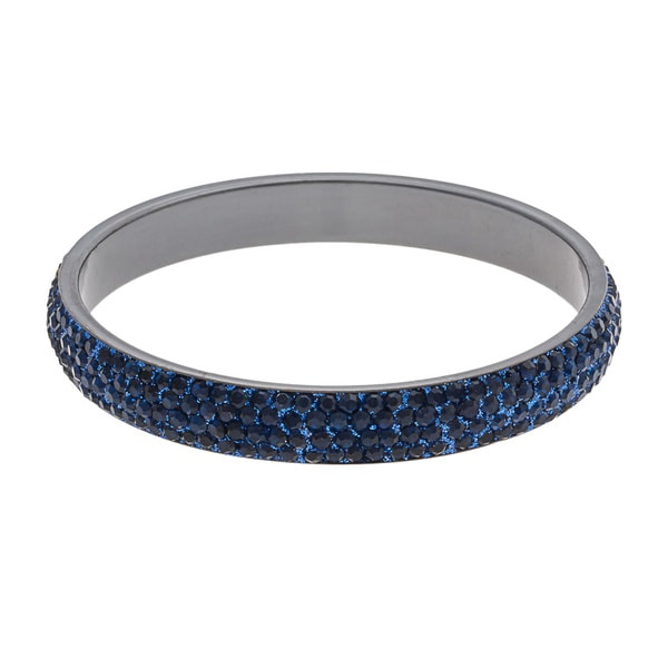 ABS Blue Pave-set Crystal Encrusted Bangle