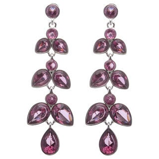 ABS Emerald City Jewels Purple Crystal Chandelier Earrings