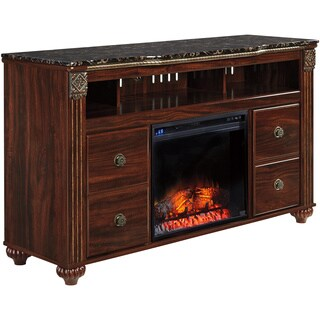 Signature Designsby Ashley Gabriela Dark Reddish Brown Large TV Stand