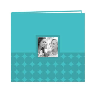 Pioneer Postbound Circles Aqua Leatherette Memory Book (12x12)