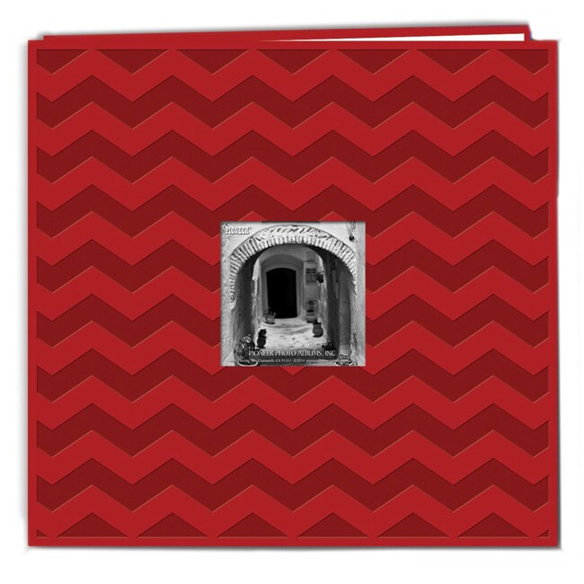 Pioneer Photo Albums Pioneer Postbound Chevron Embossed Red Leatherette Memory Book (12x12) at Sears.com