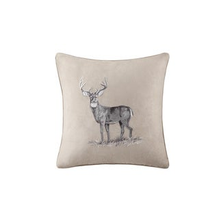 Woolrich North Isle Buck Embroidery Square Pillow