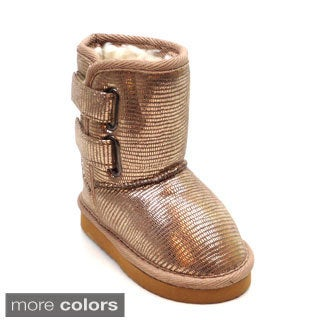 Blue Girls 'K-Ugena' Shiny Mid-calf Boots