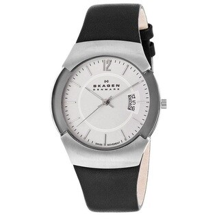 Skagen Men's 'Black Label' Stainless steel Watch