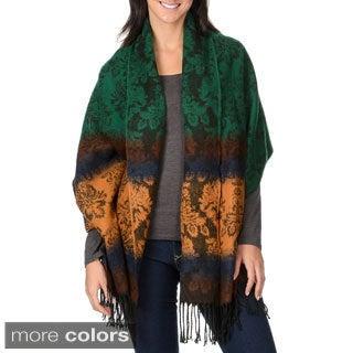 La Cera Women's Gradient Color Wrap Scarf