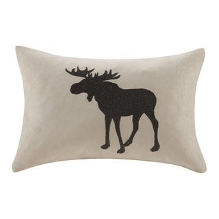 Woolrich Hadley Plaid Embroidered Moose Oblong Throw Pillow