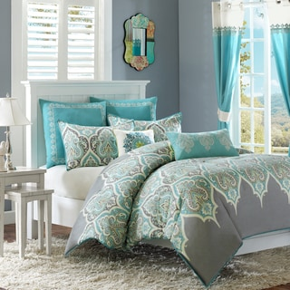 Madison Park Tara Cotton 7-piece Comforter Set Including Euro Sham & Decorative Pillows
