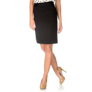Grace Elements Women's Black A-line Skirt