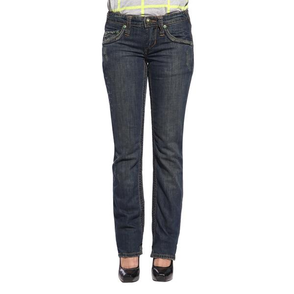 Stitch's Women's Slim Straight Leg Flap-pocket Jeans