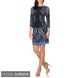 London Times Women's Paisley Print Dress