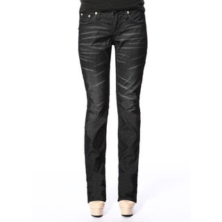 Stitch's Womens Black Lightweight Casual Jeans